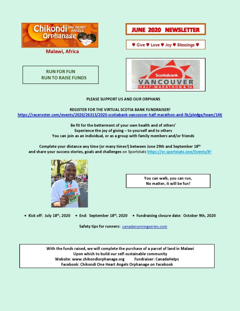 June Newsletter 2020 | Chikondi Orphanage